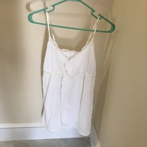 GAP BODY White Camisole Chemise Small